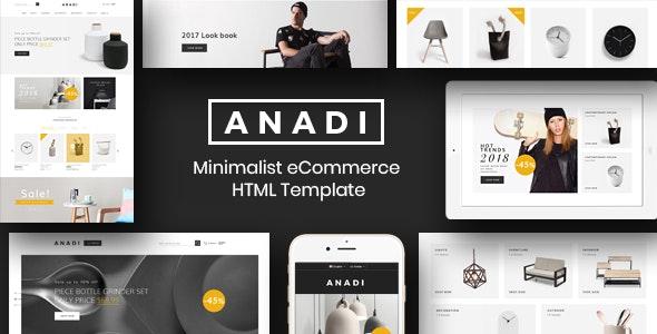 Furniture eCommerce HTML Template - Anadi - Shopping Retail