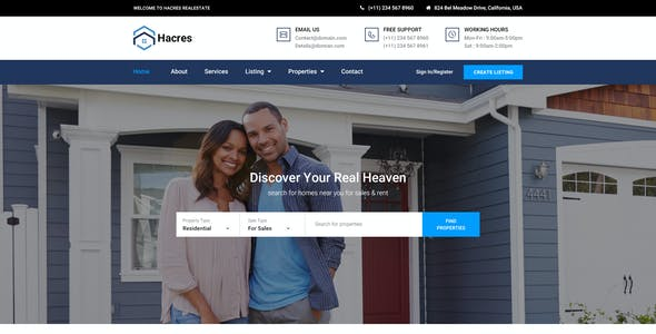 Hacres-Real Estate HTML Template | Corporate