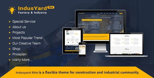 Indusyard - Factory Template for Engineering and Construction - Corporate Site Templates