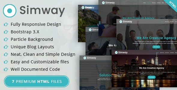 Simway - Onepage Html Template - Business Corporate