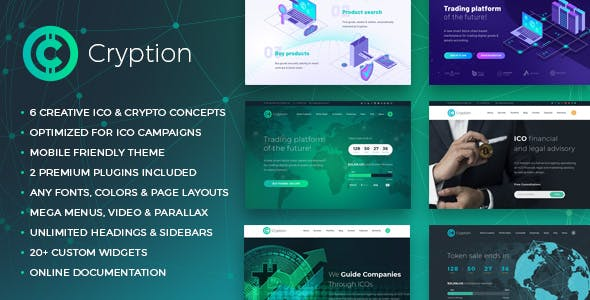 Cryption - ICO, Cryptocurrency & Blockchain WordPress Theme