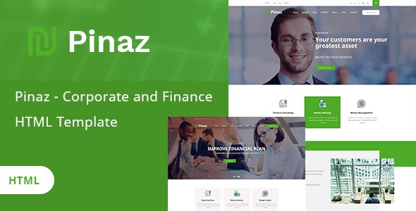 Pinaz - Corporate and Finance HTML Template - Corporate Site Templates