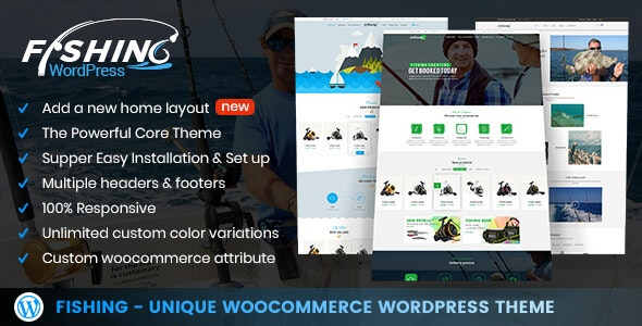 Fishing Store For WordPress Theme - Retail WordPress