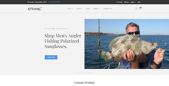 Fishing Store For WordPress Theme