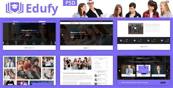 Edufy Education Courses PSD Template - Corporate Photoshop