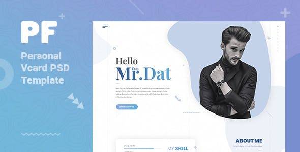 PerFas Personal Vcard PSD Template