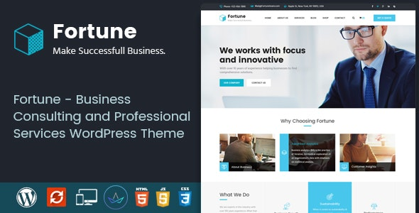 Fortune - Business Consulting and Professional Services WordPress Theme - Business Corporate