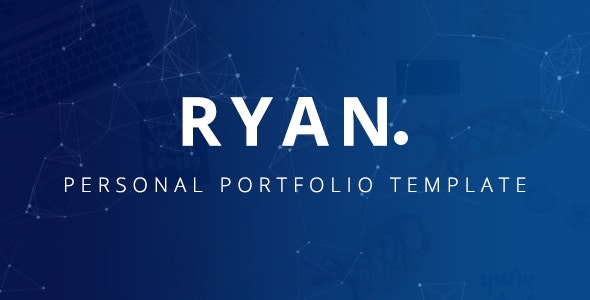 Ryan – Bootstrap 4 One Page Personal Portfolio Template - Personal Site Templates