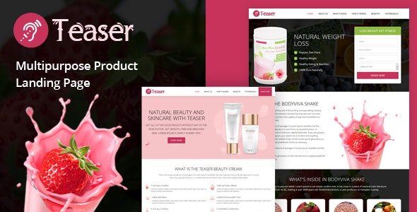 Teaser - Multipurpose Product Landing Page - Health & Beauty Retail