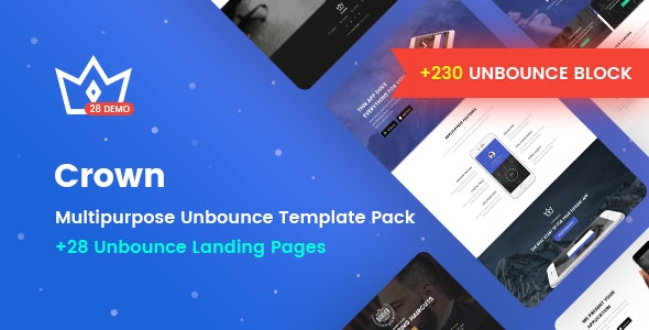 Crown - Multipurpose Unbounce Landing Pages Pack - Unbounce Landing Pages Marketing