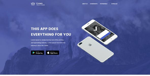 Crown - Multipurpose Unbounce Landing Pages Pack