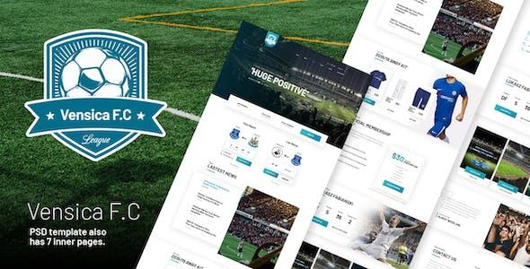 Vensica FC - Football Club  Creative PSD Template