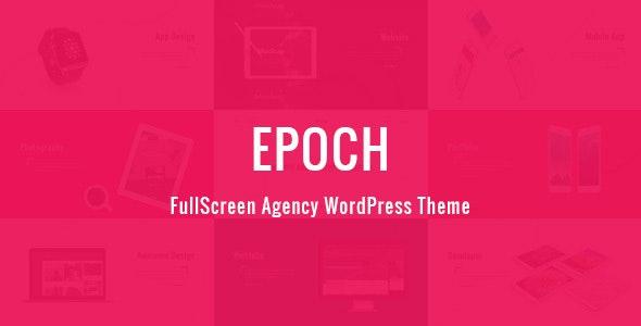 Epoch - FullScreen Agency WordPress Theme - Creative WordPress