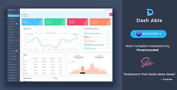 Dash Able Bootstrap Admin Template - Admin Templates Site Templates