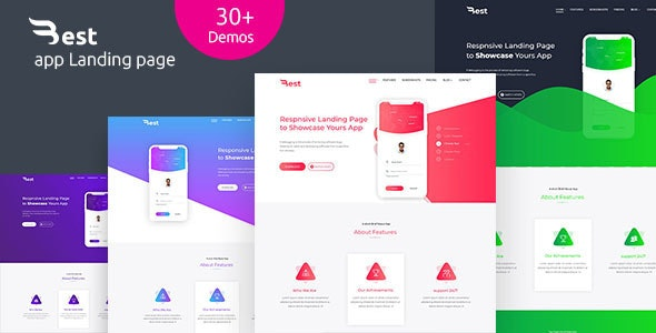 Best- app, Apps Landing Page, Apps HTML 5 Responsive Landing page Template - Marketing Corporate
