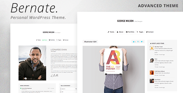 Bernate - Personal WordPress Theme - Personal Blog / Magazine