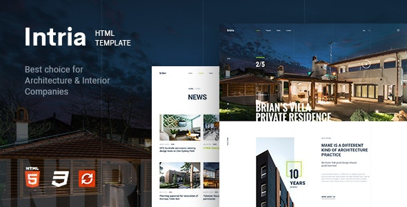 Intria - Architecture and Interior HTML Template - Business Corporate