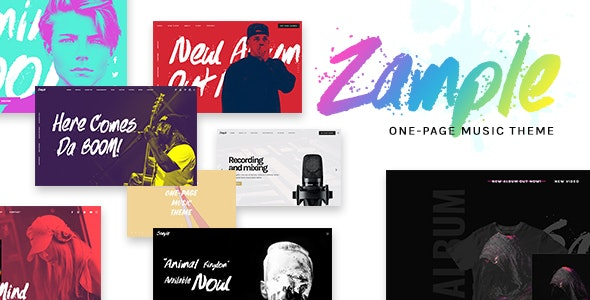 Zample - A Fresh One-Page Music WordPress Theme - Music and Bands Entertainment