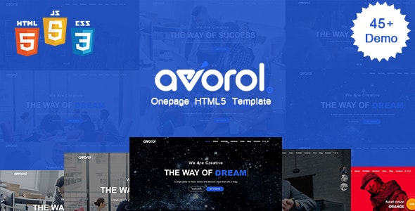 Avorol - One Page Parallax - Site Templates
