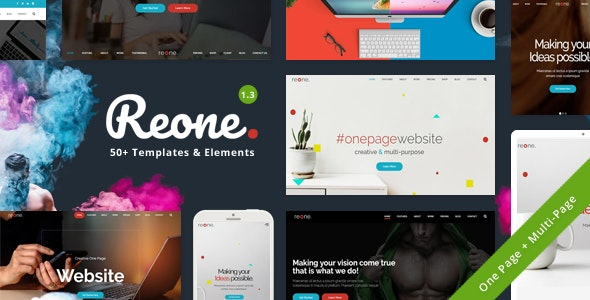 Reone - One Page Parallax - Portfolio Creative