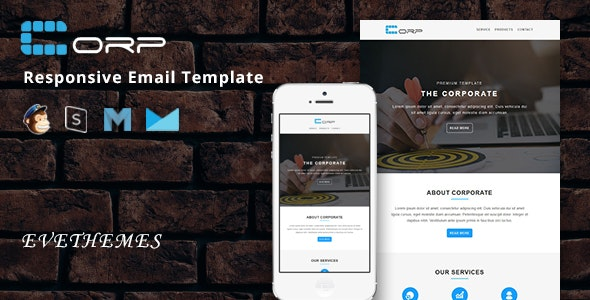 Corp - Responsive Email Template - Newsletters Email Templates