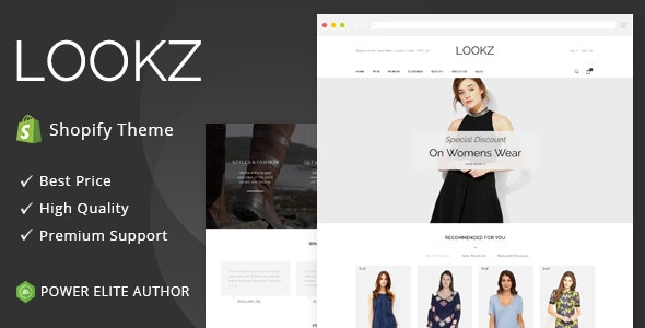 Lookz - Sectioned Multipurpose Shopify Theme - Fashion Shopify