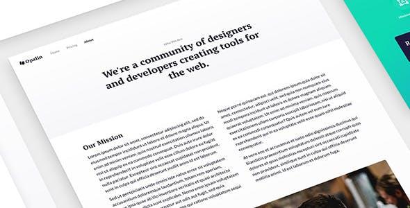 Opalin - Startup HTML Template