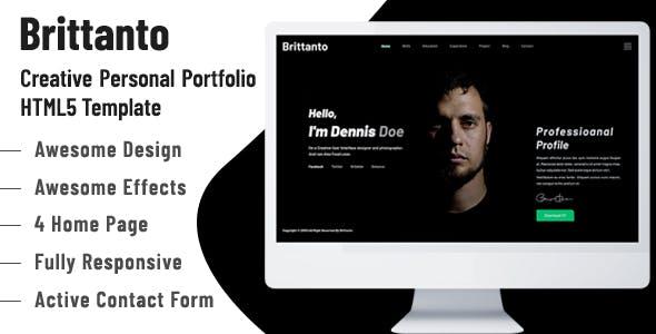 Brittanto - Personal Portfolio HTML5 Template