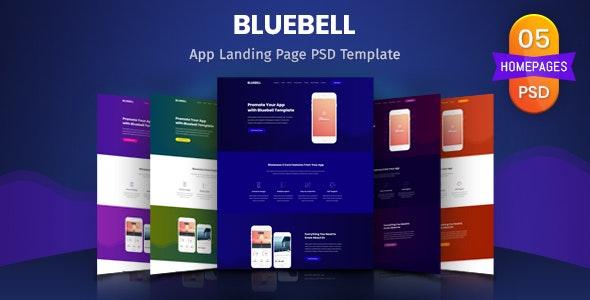 Bluebell - App Landing Page PSD Template - Technology PSD Templates
