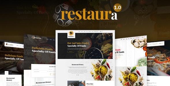 Restaurant HTML |   Restaura for Restaurant, Food & Cafe - Restaurants & Cafes Entertainment