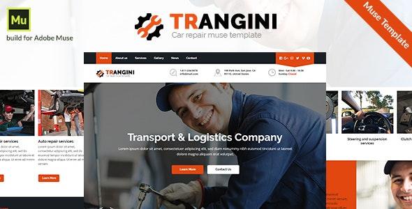 Trangini - Car Repair Muse Template - Corporate Muse Templates