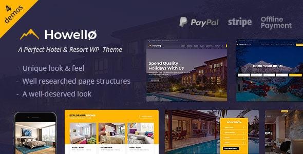 Howello : Hotel and Resort WordPress Theme - Travel Retail