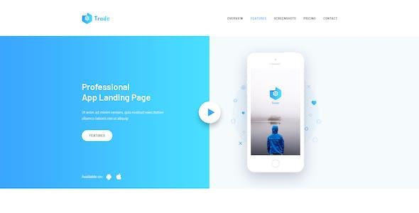 SaaS Trade - Startups SaaS PSD Template