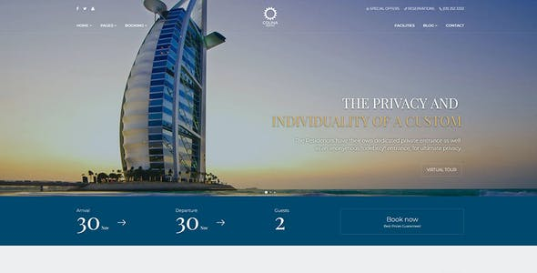 Colina - Hotel HTML Template