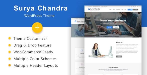 Surya Chandra - Responsive Multi-Purpose WordPress Theme - Business Corporate