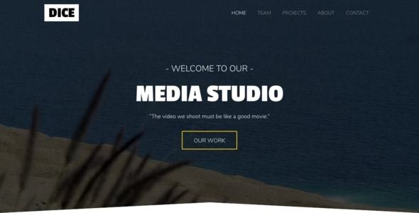 Dice - Media Studio Bootstrap 4 One Page - Creative Site Templates