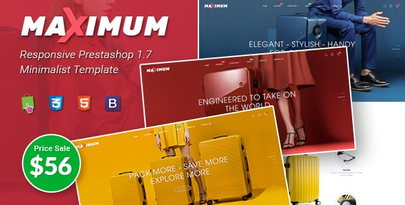Maximum - Responsive PrestaShop 1.7 eCommerce Theme | Suitcase | Headphone Store - PrestaShop eCommerce