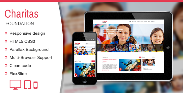 Charitas / Foundation HTML Template - Charity Nonprofit