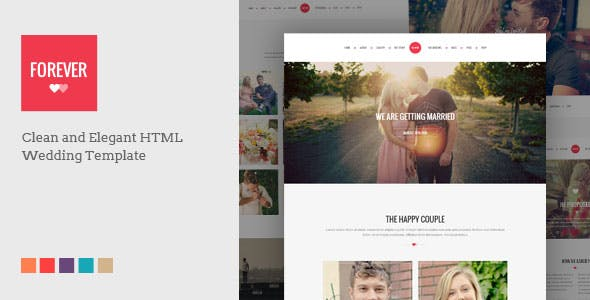Html Wedding Website Templates From