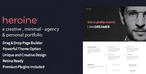 Heroine - Creative Minimal Portfolio WordPress Theme - Portfolio Creative