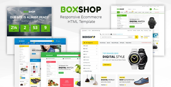 Boxshop - Responsive Ecommerce HTML5 Template - Fashion Retail