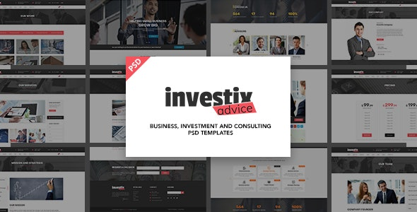 Investix - Business and Finance PSD Template - Business Corporate