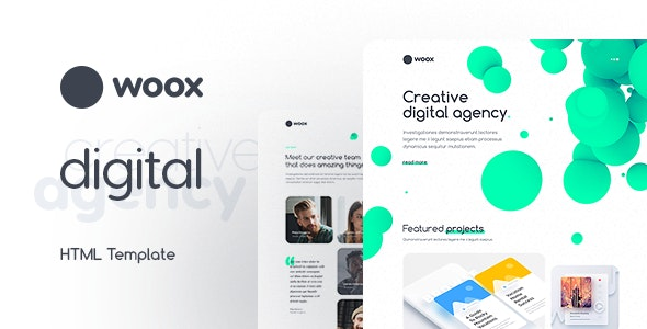 Woox - Creative Portfolio HTML Website Template - Experimental Creative