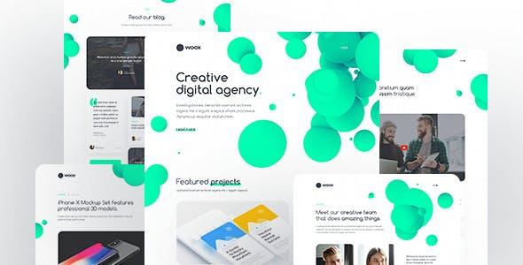 Woox - Creative Portfolio HTML Website Template