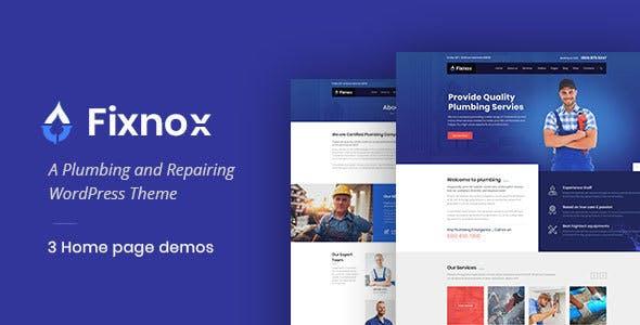 Fixnox - A Perfect Plumbing WordPress Theme