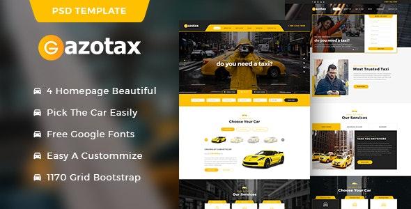 Gazotax - Taxi Service PSD Template - Miscellaneous Photoshop
