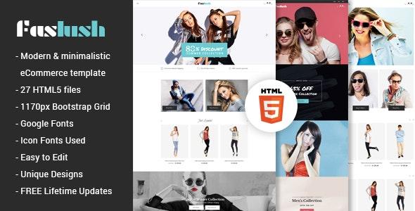 Faslush - A Modern & Minimalistic eCommerce HTML5 Template - Fashion Retail