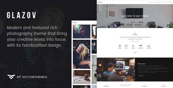 Glazov - Photography WordPress Theme - Photography Creative