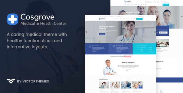 Cosgrove - Medical & Healthcare WordPress Theme - Health & Beauty Retail