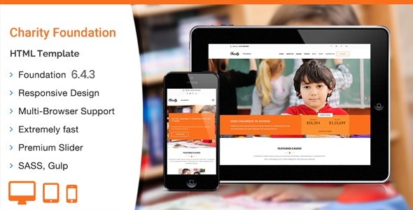 Charity Foundation - HTML Template - Charity Nonprofit